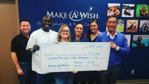 Make-A-Wish Cheque Presentation